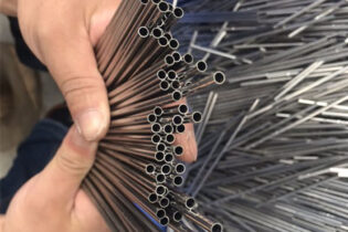 Stainless steel round tube laser cutting